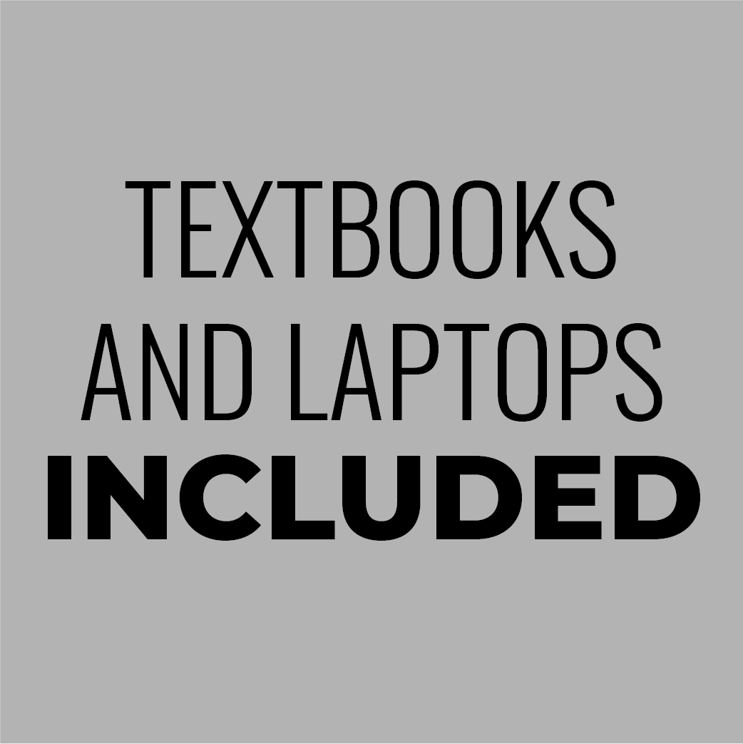 Textbooks and Laptops Included