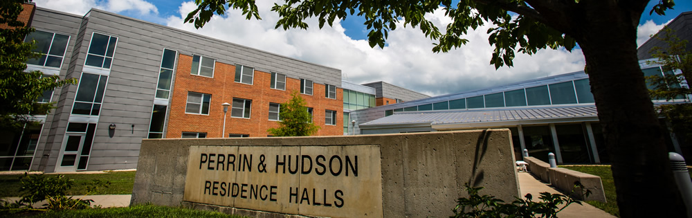 This is the logo displayed when first entering Hudson Hall.