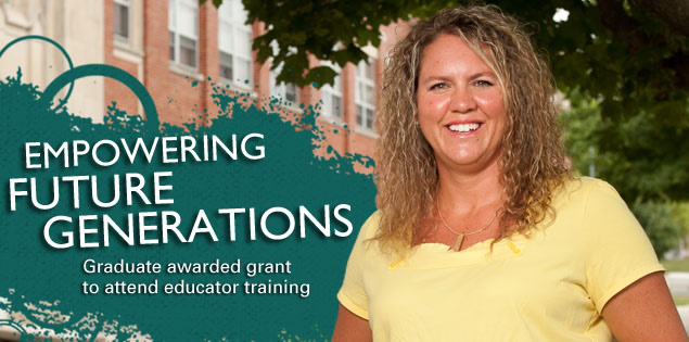 Empowering Future Generations: Graduate awarded grant to attend educator training.