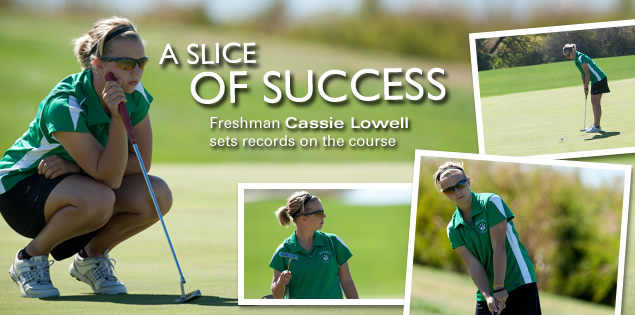 A Slice of Success: Freshman Cassie Lowell sets records on the course.