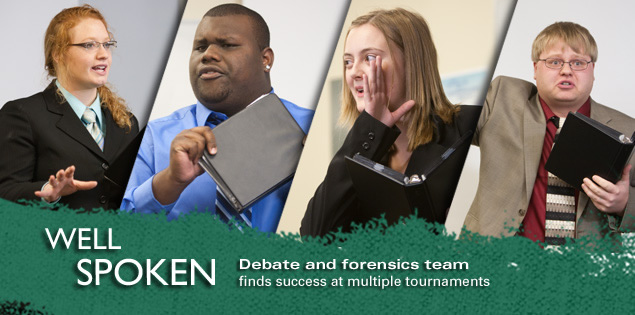 Well Spoken: Debate and forensics team finds success at multiple tournaments.