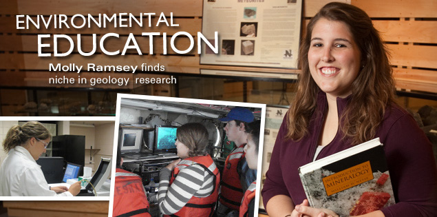 Environmental Education: Molly Ramsey finds niche in geology research.