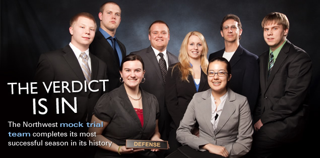 The Verdict is In: The Northwest mock trial team completes its most successful season in its history