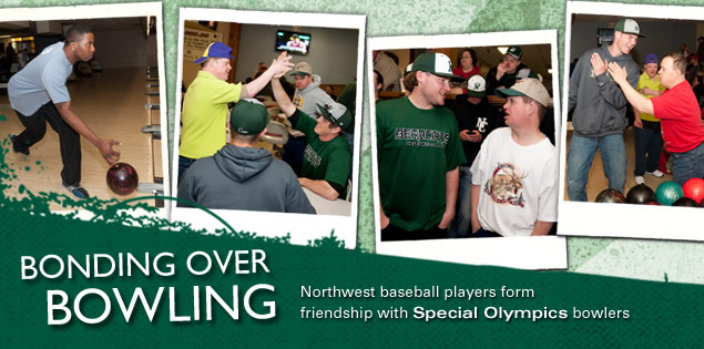 Bonding Over Bowling: Northwest baseball players form friendship with Special Olympics bowlers