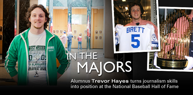 In the Majors: Alumnus Trevor Hayes turns journalism skills into position at the National Baseball Hall of Fame