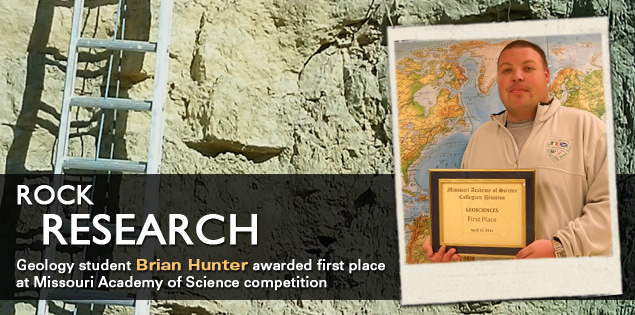 Rock Research: Geology student Brian Hunter awarded first place at Missouri Academy of Science competition
