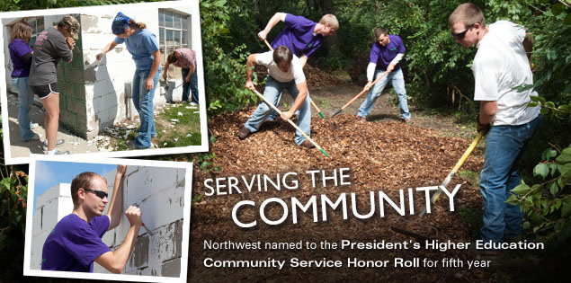 Serving the Community: Northwest named to the President's Higher Education Community Service Honor Roll for fifth year
