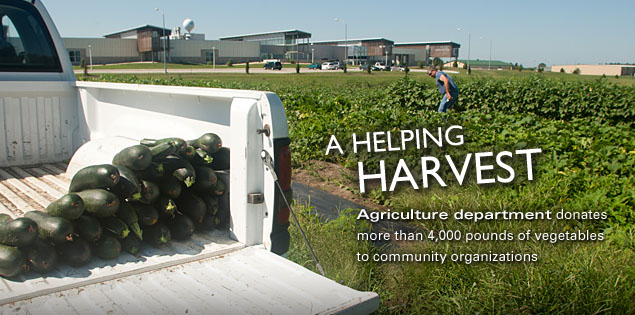 A Helping Harvest: Agriculture department donates more than 4,000 pounds of vegetables to community organizations