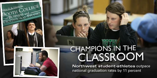 Champions in the Classroom: Northwest student-athletes outpace national graduation rates by 11 percent