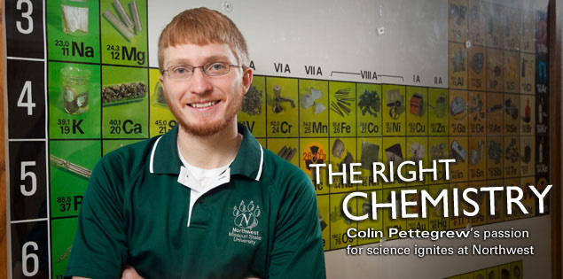 The Right Chemistry: Colin Pettegrew's passion for science ignites at Northwest