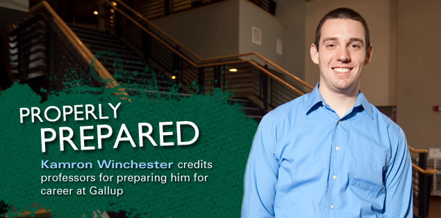 Properly Prepared: Kamron Winchester credits professors for preparing him for career at Gallup