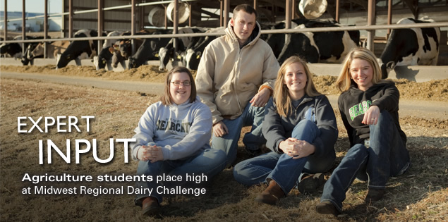 Expert Input: Agriculture students place high at Midwest Regional Dairy Challenge
