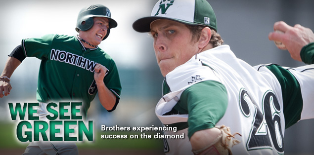 We See Green: Brothers experiencing success on the diamond