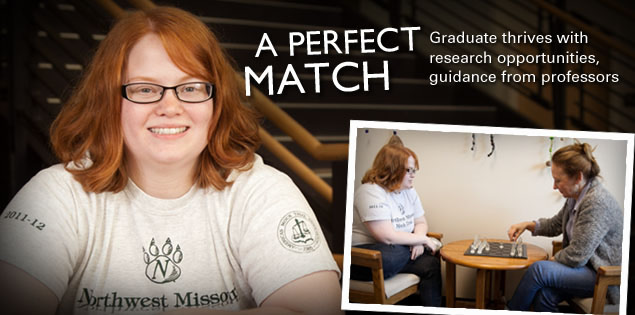 A Perfect Match: Graduate thrives with research opportunities, guidance from professors