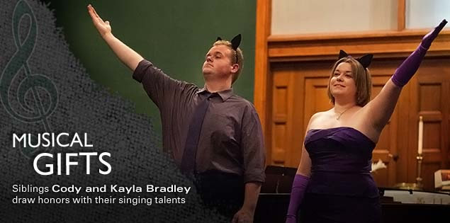 Musical Gifts: Siblings Cody and Kayla Bradley draw honors with their singing talents