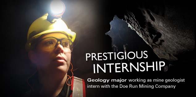 Prestigious Internship: Geology major working as mine geologist intern with the Doe Run Mining Company