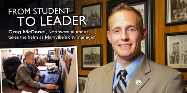 From Student to Leader: Greg McDanel, Northwest alumnus, takes the helm as Maryville's city manager