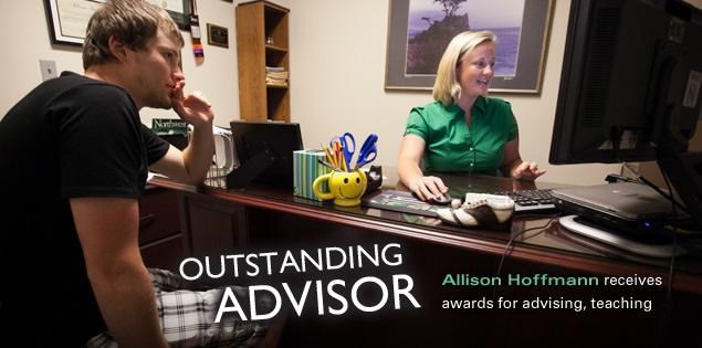 Outstanding Advisor: Allison Hoffmann receives awards for advising, teaching