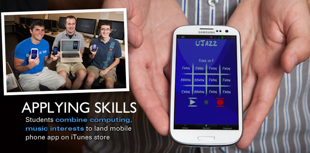 Applying Skills: Students combine computing, music interests to land mobile phone app on iTunes store