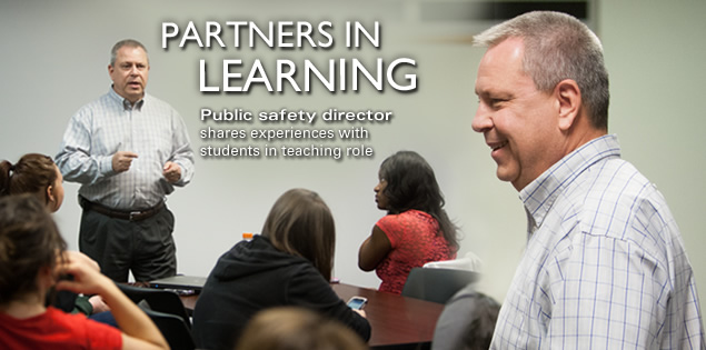 Partners in Learning: Public safety director shares experiences with students in teaching