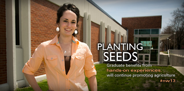 Planting Seeds: Graduate benefits from hands-on experiences, will continue promoting agriculture