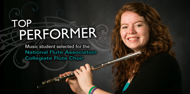 Top Performer: Music student selected for the National Flute Association Collegiate Flute Choir