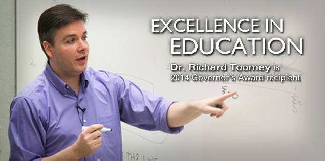 Excellence in Education: Dr. Richard Toomey is 2014 Governor's Award recipient