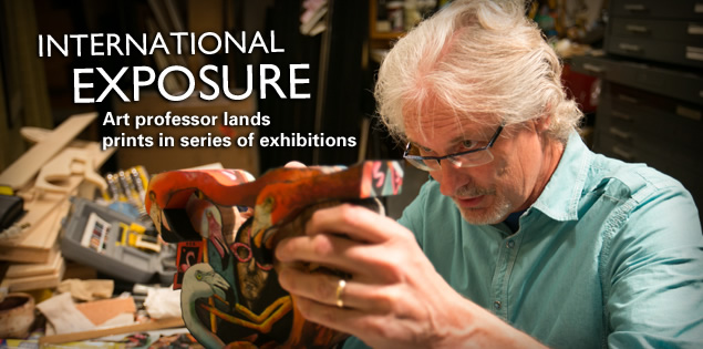 International Exposure: Art professor lands prints in series of exhibitions