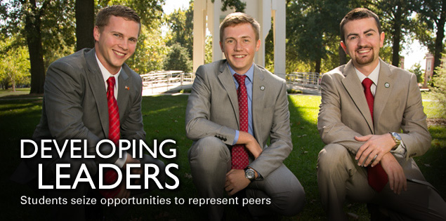 Developing Leaders: Students seize opportunities to represent peers
