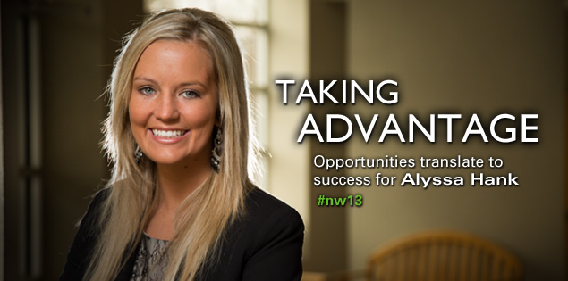 Taking Advantage: Opportunities translate to success for Alyssa Hank