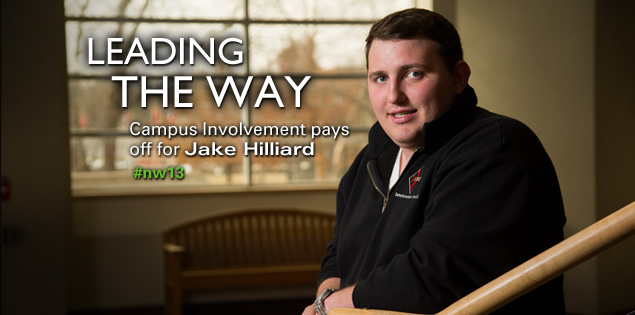 Leading the Way: Campus involvement pays off for Jake Hilliard