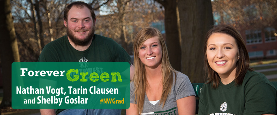 Forever Green: Nathan Vogt, Tarin Clausen and Shelby Goslar