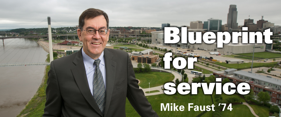 Blueprint for service: Mike Faust '74