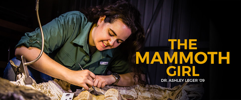 The Mammoth Girl: Dr. Ashley Leger '09