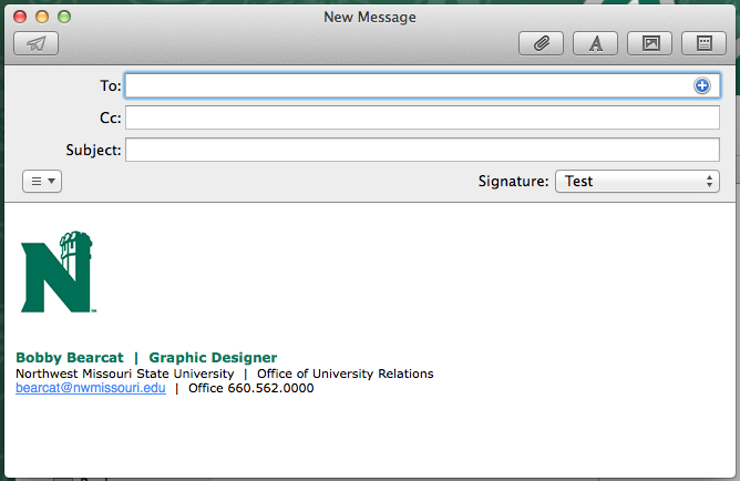 how to write an email signature college