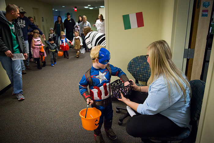 Northwest invites families for trick-or-treating in residence halls