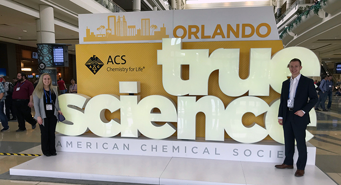 Medicinal chemistry students present at national conference