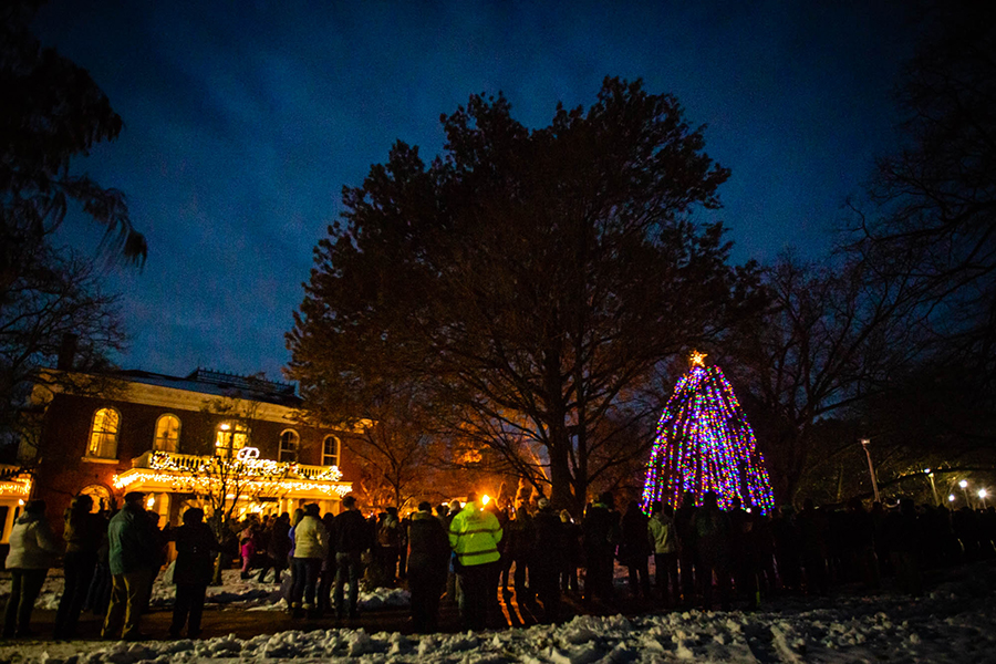 Annual holiday tree lighting ceremony set for Dec. 3 at Memorial Bell Tower
