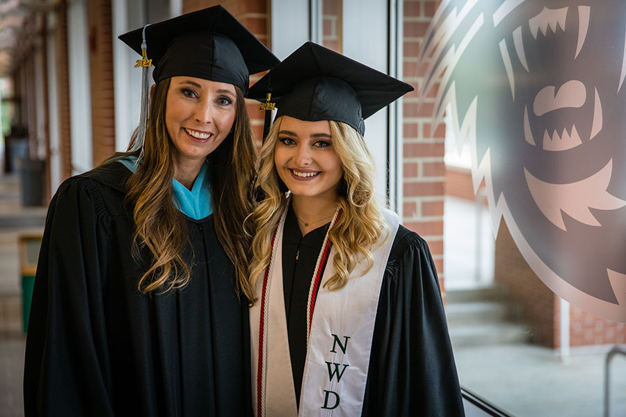 Mother, daughter complete degrees together at Northwest